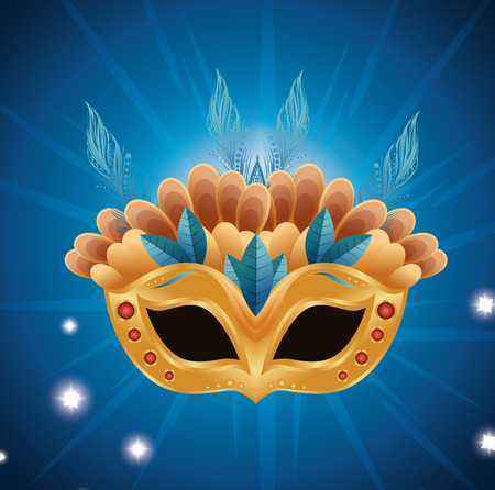 beautiful mask carnival bright background vector illustration eps 10
