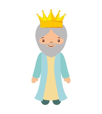 wise man: wise man epiphany manger character vector illustration design