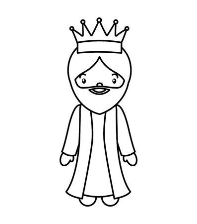 wise man epiphany manger character vector illustration design