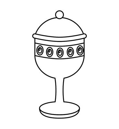 chalice cup gift epiphany vector illustration design