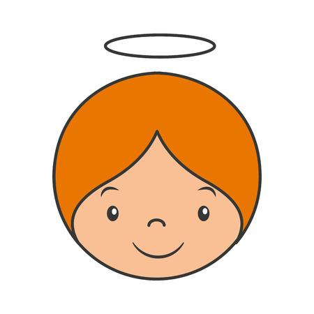 cute angel: cute angel manger character vector illustration design