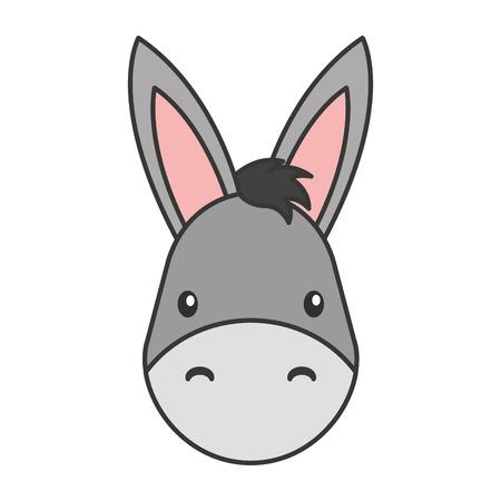 mule: cute mule manger character vector illustration design