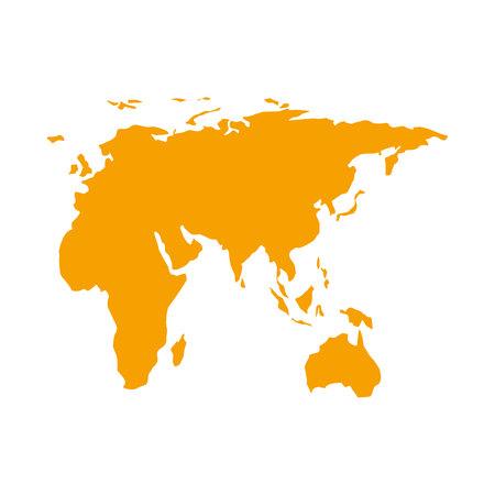 world map geography icon vector illustration design Illustration