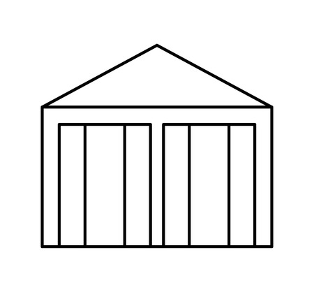 warehouse building: warehouse building isolated icon vector illustration design