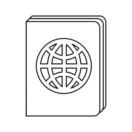 emigration: passport document isolated icon vector illustration design