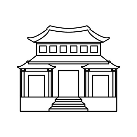 architecture: japanese building isolated icon vector illustration design