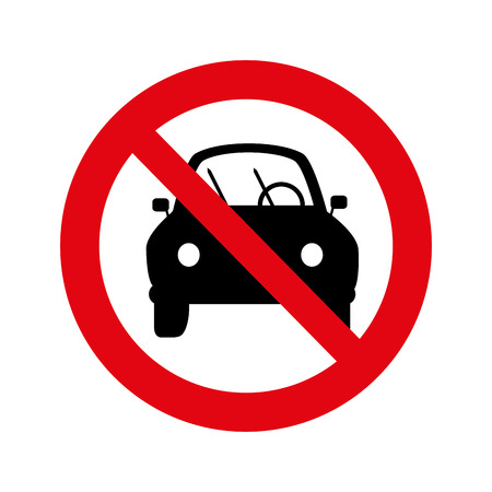 restricted area sign: dont parking signal icon vector illustration design