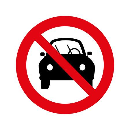 dont parking signal icon vector illustration design