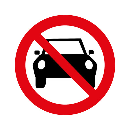 dont: dont parking signal icon vector illustration design