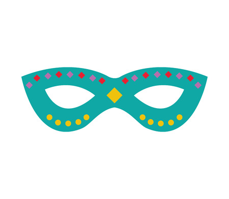 theatrical performance: party mask isolated icon vector illustration design