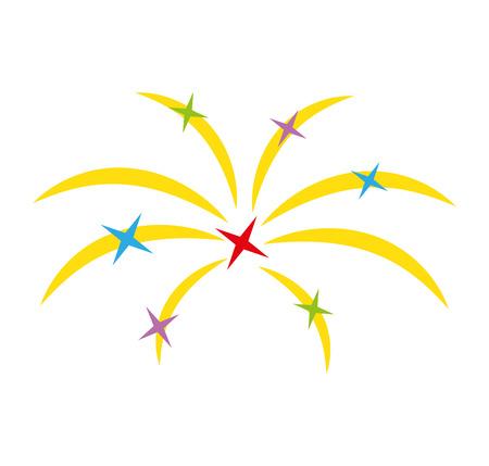fireworks splash isolated icon vector illustration design