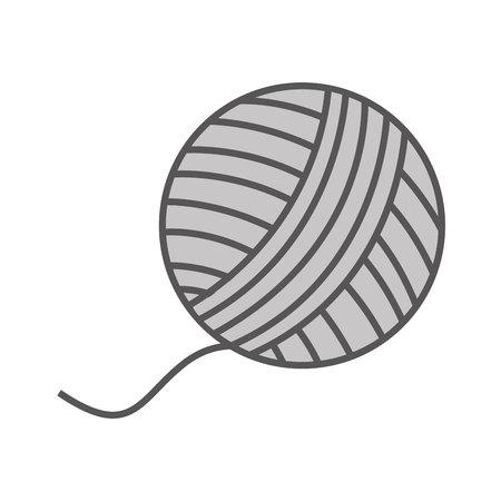 bal van wol geïsoleerd vector de illustratieontwerp van het pictogram