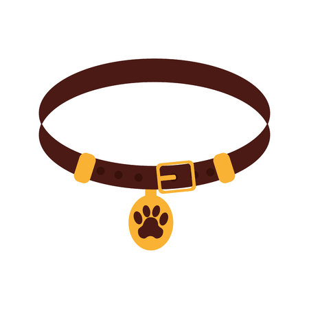 safety belts: Pet collar isolated icon vector illustration design