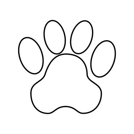 動物のフット プリントのベクトル イラスト デザインをシールします。