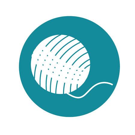 Bal van wol geïsoleerd pictogram vector illustratie ontwerp