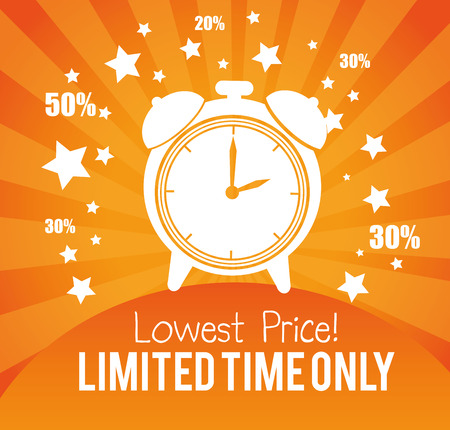 lowest price limited time only advertisement gold background vector illustration Illustration
