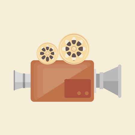 grabadora: camera film vintage recorder movie vector illustration Vectores