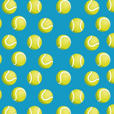 balls tennis seamless pattern design vector illustration