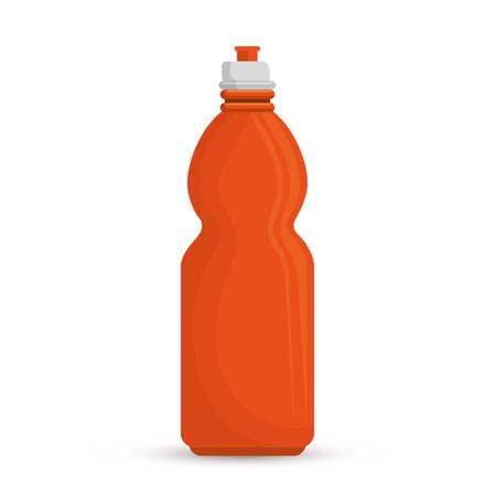 hydration: orange bottle water hydration sport vector illustration Illustration
