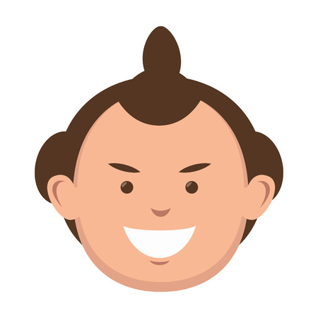 character sumo wrestler japanese vector illustration