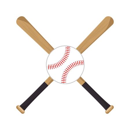 baseball crossed bats icons vector illustration Çizim