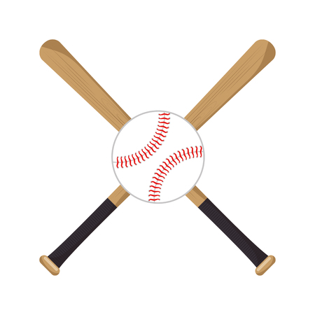 baseball crossed bats icons vector illustration Illustration