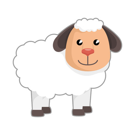 cute sheep manger character vector illustration design Illustration