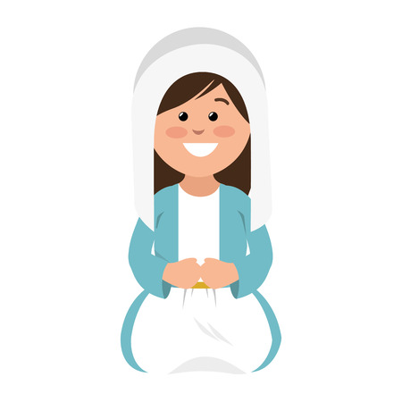 mary vigin manger character vector illustration design