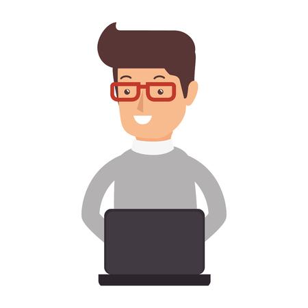 avatar persoon werken pictogram vector illustratie ontwerp Stock Illustratie