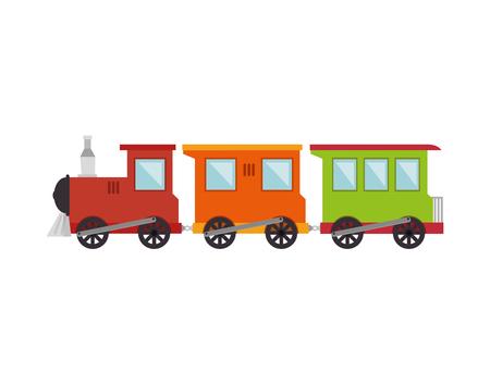 train toy kid isolated icon vector illustration design