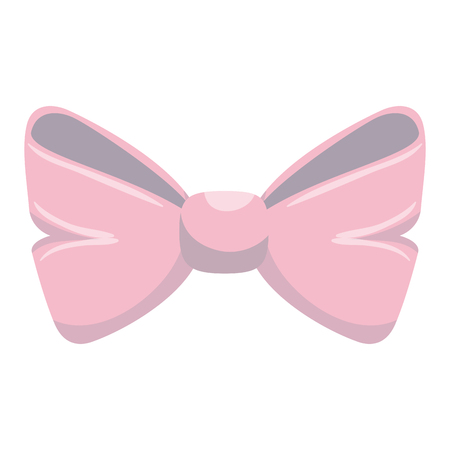 cute bown pink isolated icon vector illustration design Illustration
