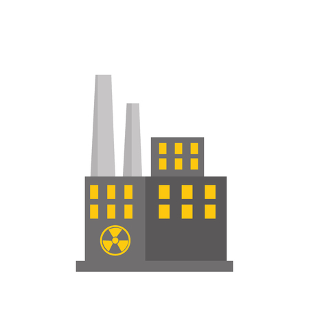 nuclear plant: nuclear plant factory building vector illustration design