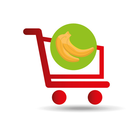 carry buying banana fruit icon graphic vector illustration eps 10