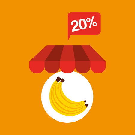 banana discount shop online icon vector illustration