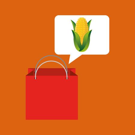 cob: red bag buying corn cob vegetable