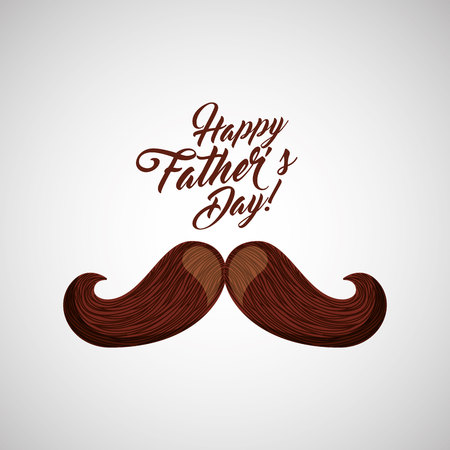 greeting fathers day mustache icon vector