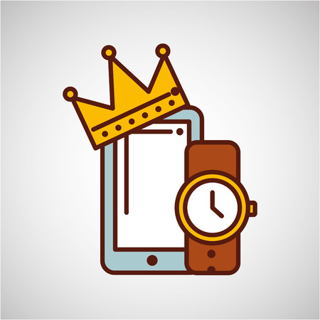 smartphone watch gift father day icon Illustration