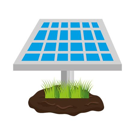 solar power station: panel solar energy isolated icon vector illustration design
