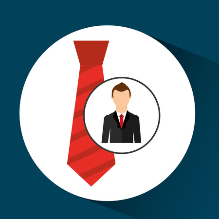 cartoon dad father day red tie vector illustration Illustration