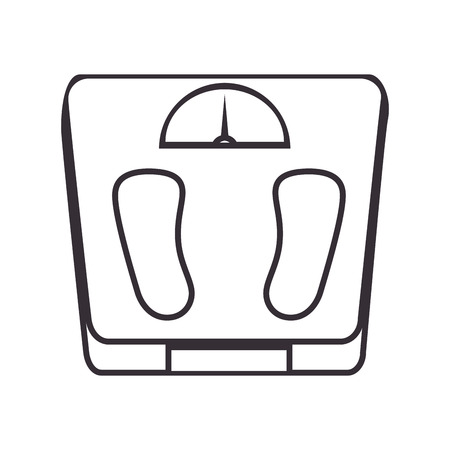 scale weight measure icon vector illustration design