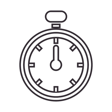 watch movement: chronometer watch isolated icon vector illustration design Illustration