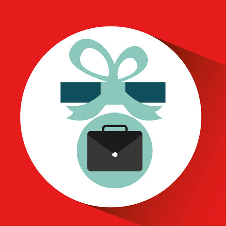 gift father day with portfolio vector illustration