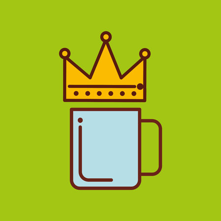 fathers day cup coffee and camera vector illustration