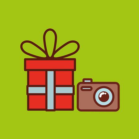 fathers day gift camera icon design vector illustration Illustration