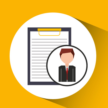 competence: businessman character clipboard concept vector illustration
