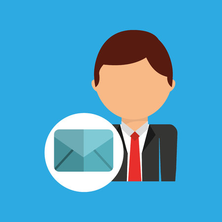 email business man suit worker icon vector illustration