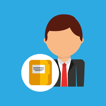conformity: file business man suit worker icon vector illustration Illustration