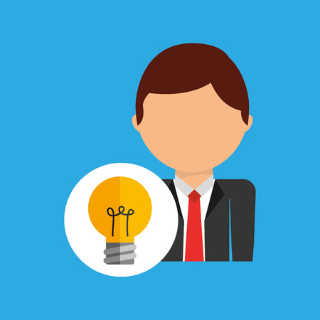 idea business man suit worker icon vector illustration