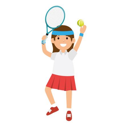 tennis player character icon vector illustration design Illustration