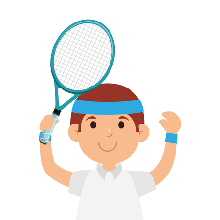 tennis player character icon vector illustration design Illustration